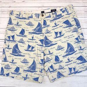J.Crew regular Fit Nautical shorts size 38 EUC